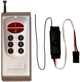 Keyfob-size transmitter and receiver
